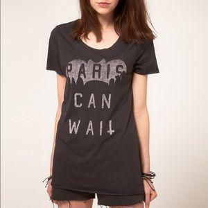 ZOE KARSSEN Paris Can Wait Cotton Blend T-Shirt